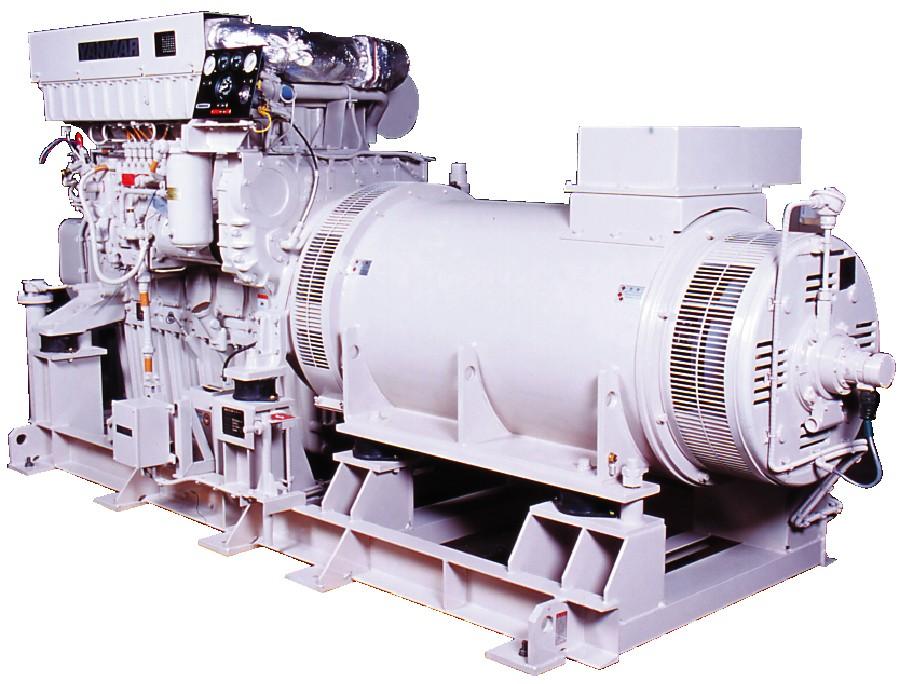 1)ディーゼル発電設備写真1