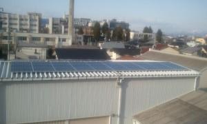 長野市内 事務所 太陽光発電 10kW
